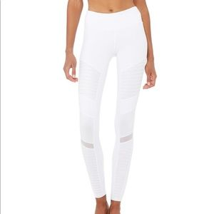 ALO yoga white moto leggings